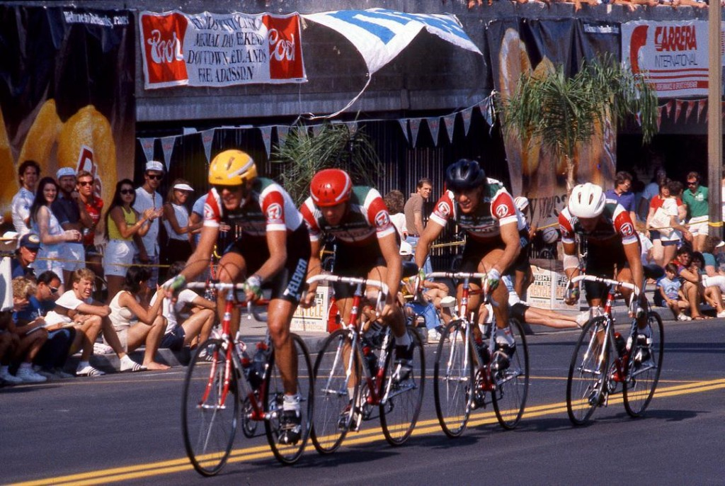 The 7Eleven Cycling Team in the 1986 Redlands Bicycle Classichellip
