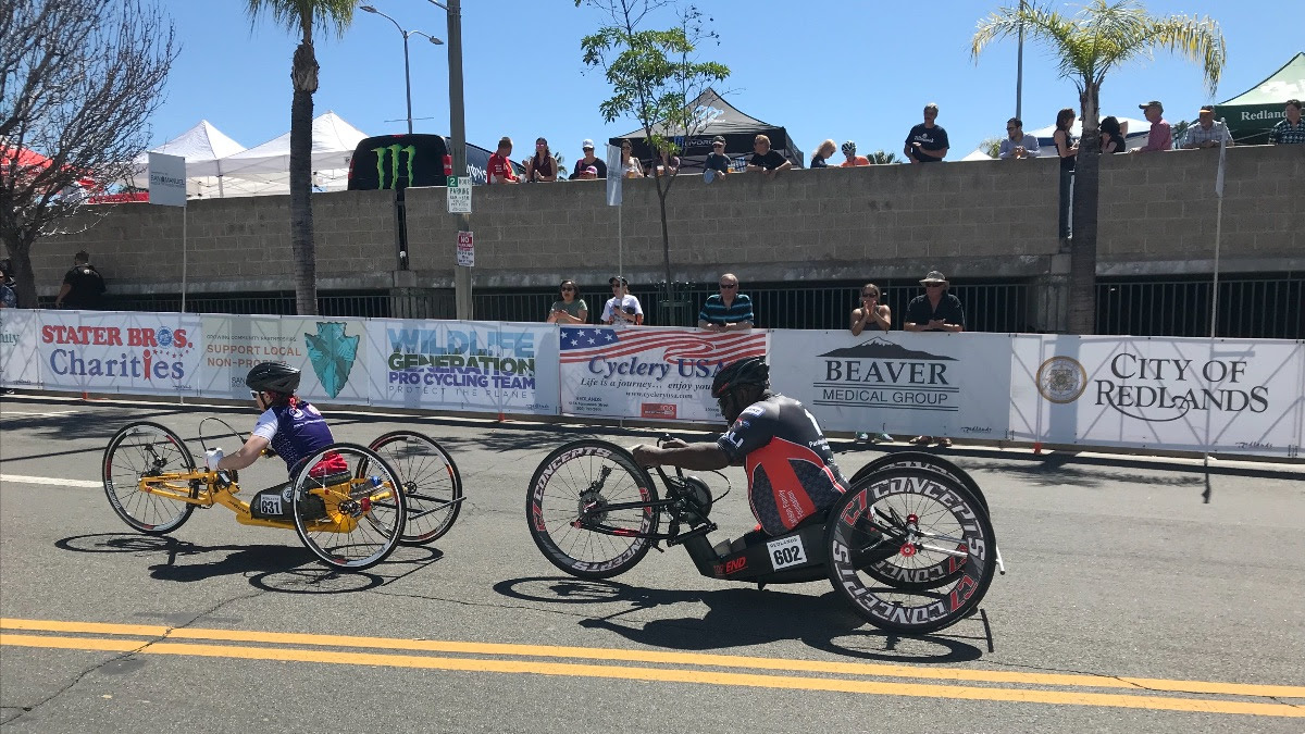 Para-Cycling racer, Pinney sprints to victory in Redlands
